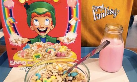 Menú de cereales y leche con topping para 2 o 4 personas desde 3,95 € en Cereal Fantasy