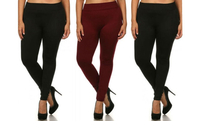 e63910bed45261 Women's Winter Fleece Lined Leggings (3-Pack). Plus Sizes Available.
