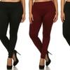 Women's Winter Fleece Lined Leggings (3-Pack). Plus Sizes Available.