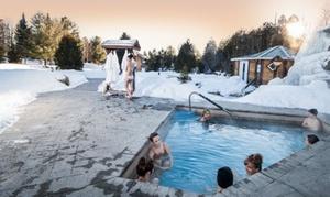 Natureza Spa-Resto-Chalet: Accès aux bains et massage de 30 minutes en option pour 1 personne au Natureza Spa-Resto-Chalet (jusqu'à 60 % de rabais)
