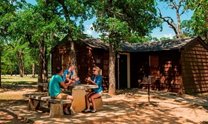 Rustic Cabins at Lakeside State Park in Oklahoma at Lake Murray Lodge, plus 6.0% Cash Back from Ebates.