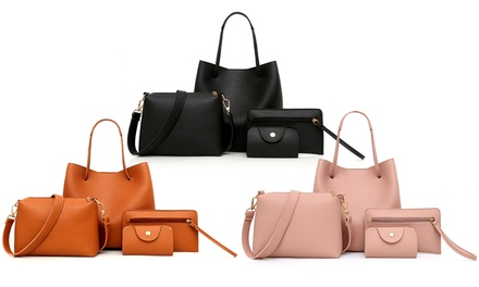 Set of Four Women's Matching Handbags
