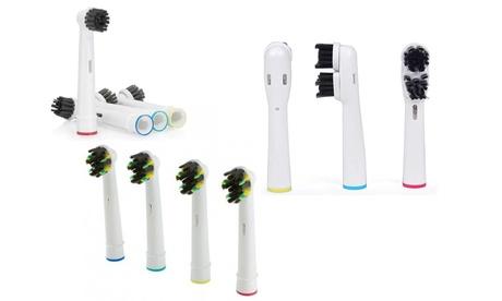 4er- oder 8er-Pack Ersatz-Zahnbürstenköpfe mit Kohle, kompatibel mit elektrischen Oral B Zahnbürsten