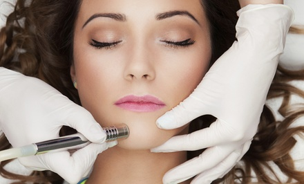 One or Three Microdermabrasion Sessions with optional LED Facial at In Skin Clinic