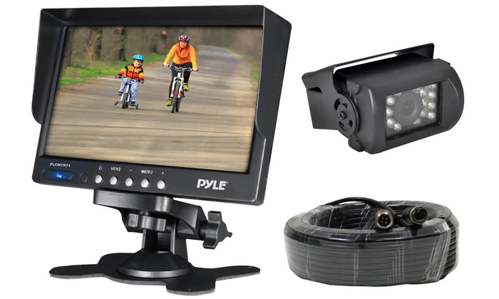 Pyle Commercial-Grade Wired or Wireless Backup Camera and Video Monitor