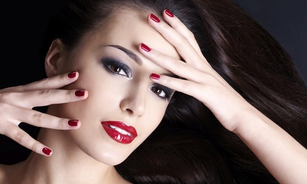 One or Two NoChip Gel Manicures, or One OPI ManiPedi at Nails by Amy (Up to 53% Off)
