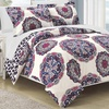 Andorra Soft Medallion Reversible Duvet Cover Set (2- or 3-Piece)