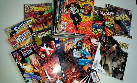 50 Comic Book Bundle with Collectible Cards
