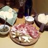 Menu tigelle, salumi e formaggi con vino
