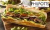 Philpotts Carvery Baguette, Gateau and Drink