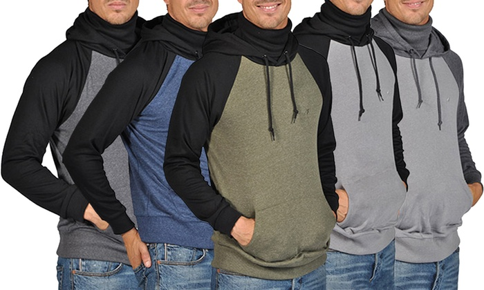 ARSNL Men's 2-Tone Hooded Scarf Sweater