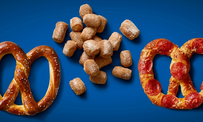 Auntie Anne's - Multiple Locations: Three Pretzel Items with Optional Medium Lemonades atAuntie Anne's (Up to 60%Off). Six Locations Available.