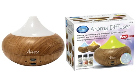 Ultrasonic Aroma Diffuser with Three Essential Oils