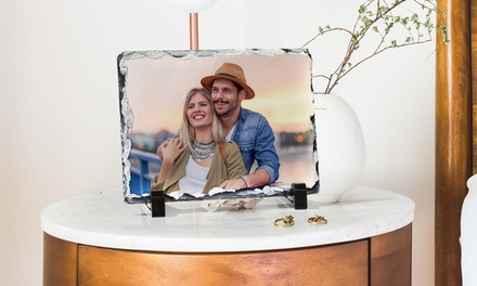 One or Three Custom Slate Photo Prints with Display Easel from PrinterPix (Up to $91.97 Off). 3 Options Available.