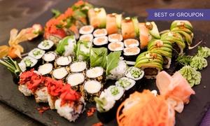 Bonsai Sushi Bar: Große Sushi-Platte inkl. Aperitiffür 2 oder 4 Personen in der Bonsai Sushi Bar (50% sparen*)