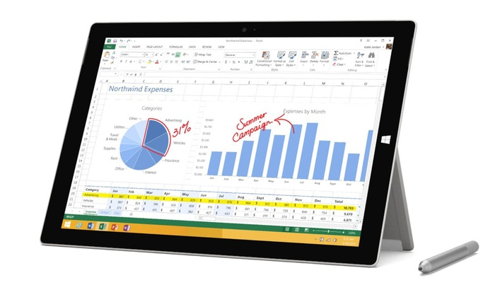 Microsoft Surface Pro 3 256GB Windows 10 Tablet (Manufacturer Refurbished)