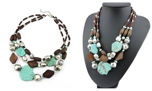 Up to 88% Off Multi-Layer Chunky Boho Necklaces from Novadab