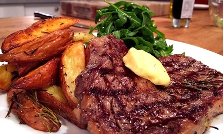 Steak Meal with Wine for Two or Four at The Church Bar and Restaurant, Northampton