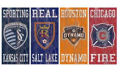 dc93484e07 Shop Groupon Fan Creations MLS Heritage Team Logo Sign ...