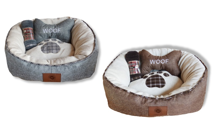 Magnificent American Kennel Club Pet Dog And Cat Bed With Blanket And Creativecarmelina Interior Chair Design Creativecarmelinacom