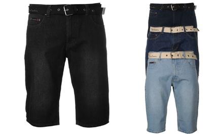 Short en jean à ceinture signé Pierre Cardin pour homme