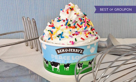 Ice Cream from Ben & Jerry's Ice Cream (Up to 59% Off). Three Options Available.