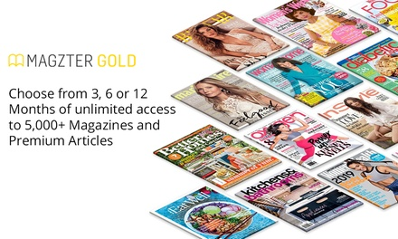 Unlimited Online Magazines: 3 Months ($14.99), 6 Months ($19.99) or 12 Months ($29.99) from Magzter (Up to $99.99 Value)