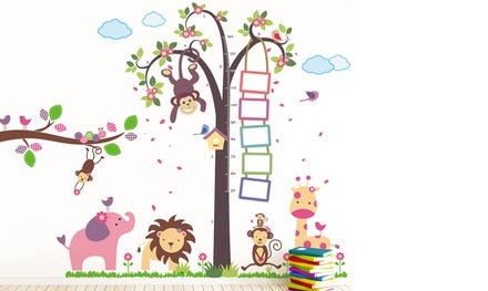 Walplus Animal Height Measurement Wall Stickers from £6.98