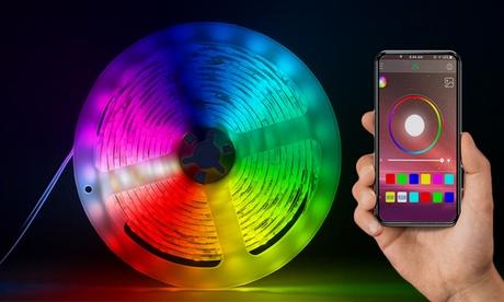 Tira de luces LED de colores con sistema Bluetooth