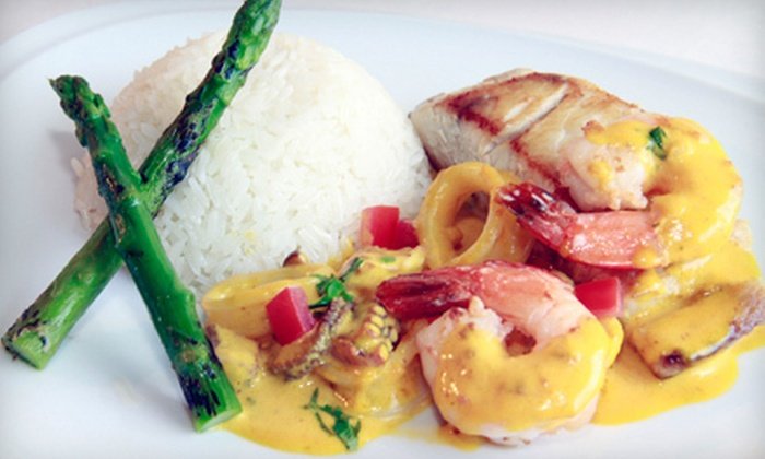 La Huaca Restaurant - Johnson Ranch: Peruvian Meal for Two or Four or $10 for $20 Worth of Peruvian Lunch at La Huaca Restaurant