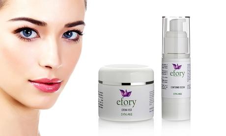 Kit de soins - crème de visage et contour des yeux au botox naturel de la marque Syn Ake
