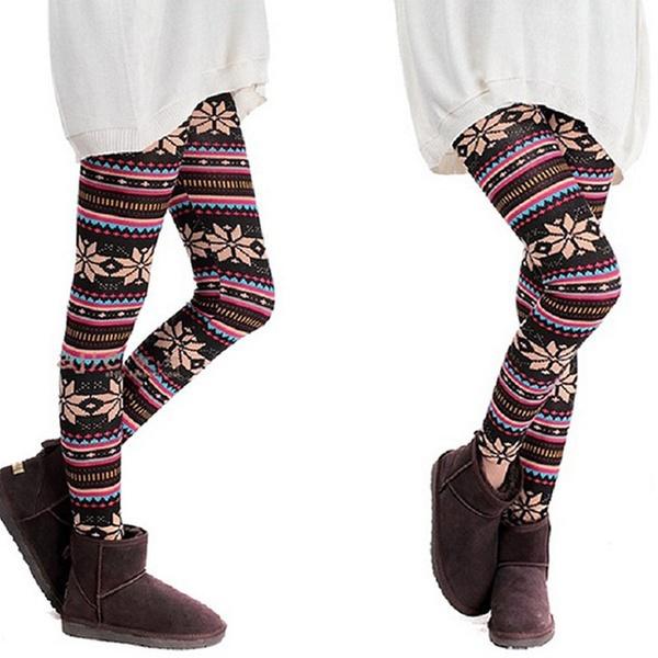 3cf71ded3e73f2 Nordic Print Lined Leggings | Groupon