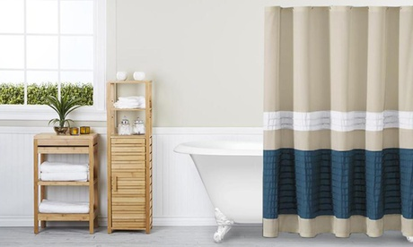 Portico Pleated Shower Curtain fa85831f-c7fc-49d4-9a04-3db78065e3fc