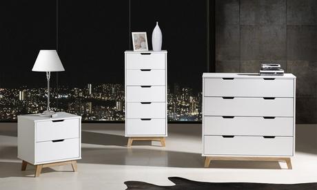 Muebles de dormitorio de diseño escandinavo con opción a pack
