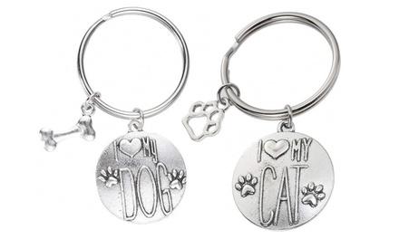 I Love My Pet Key Chain