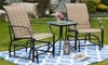 Patio Festival Weather Resistant Glider Chair and Table Set (3-Piece)