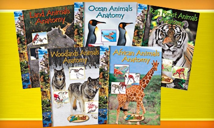 """Animal Anatomy Set from """"Zoobooks"""": $20 for the Animal-Anatomy Set with Seven Books, Stickers, and Poster from """"Zoobooks"""" ($60 Value)"""