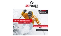 1, 2, 3, 4 ou 5 pass de ski dans plus de 100 stations de ski en France avec Skipower dès 7 € (jusquà 50% de réduction)