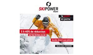 Skipower: 1, 2, 3, 4 ou 5 pass de ski dans plus de 100 stations de ski en France avec Skipower dès 7 € (jusqu'à 50% de réduction)