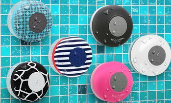 Aduro AQUA Sound Bluetooth Shower Speaker with Mic and Controls