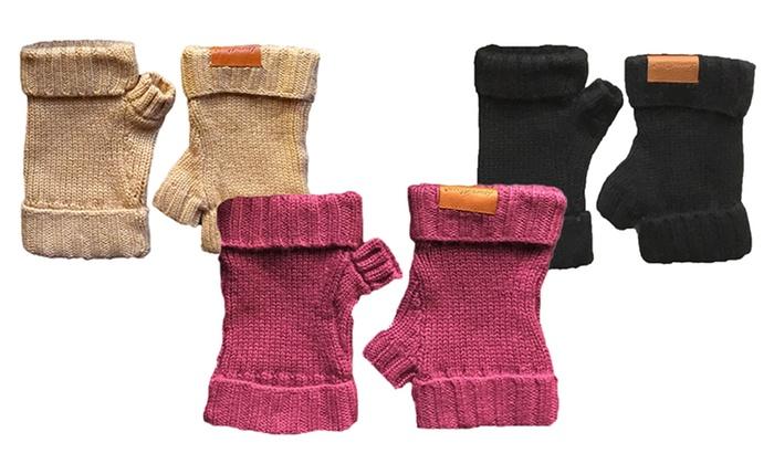 Laura Alison Wool-Silk Blend Fingerless Gloves