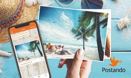 1, 3 o 5 postales personalizadas con Postando (50% de descuento)