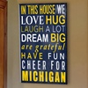 """Fan Creations NCAA 12""""x19"""" In This House Wooden Sign"""