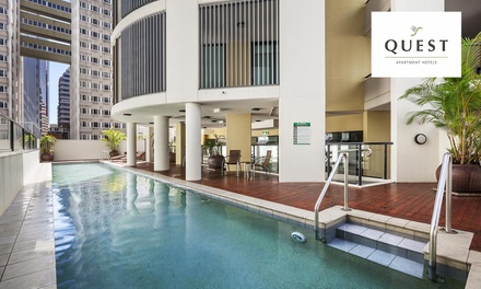 Brisbane: 2- or 3-Night Apartment Stay for 2-4 People with Wine, Parking and Late Check-Out at Quest River Park Central