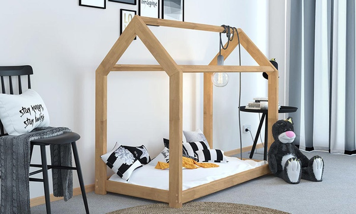 "Tree House-Style Bed Frame with Optional 5"" Spring Mattress from £130"