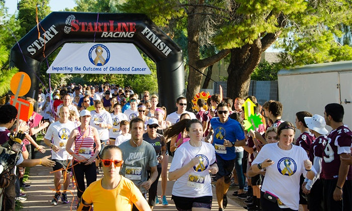 CHAMP (Cancer Hope & Awareness Month for Pediatrics) - Tempe: CHAMP (Cancer Hope & Awareness Month for Pediatrics) 5K Race for One or Two on September 17 (Up to 39% Off)
