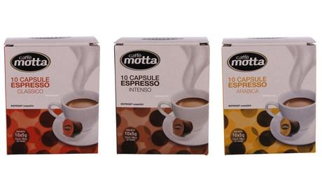 140 capsule di caffè Motta compatibili Nespresso disponibili in 4 miscele