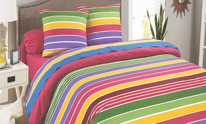 3 teiliges bettw sche set groupon. Black Bedroom Furniture Sets. Home Design Ideas
