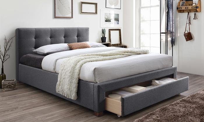 Up To 30 Off On Upholstered King Platform Bed Groupon Goods