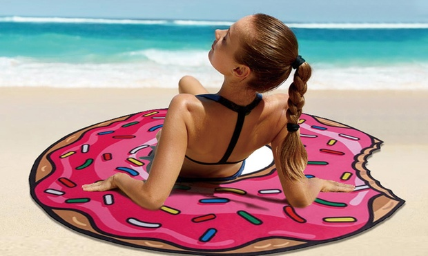30bc5f2f3e06 Microfibre Tasty Round Beach Towel: One $19 or Two $29 | Australia ...